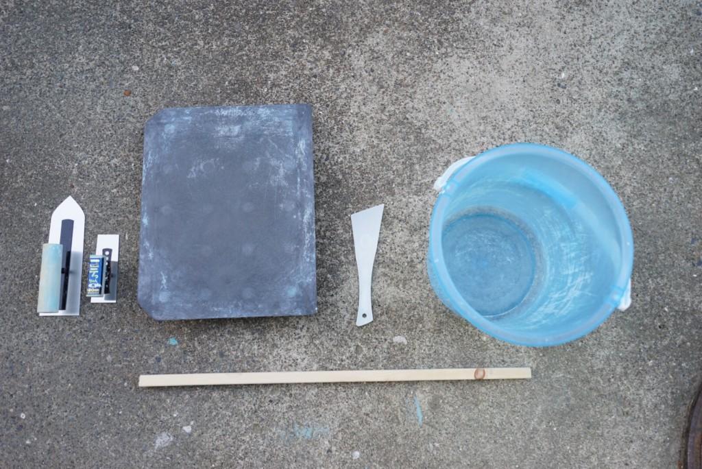 漆喰を塗る道具